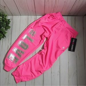 💕Limited Too hot pink sweatpants size small